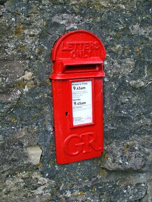 Post box in wall, Keld, England
