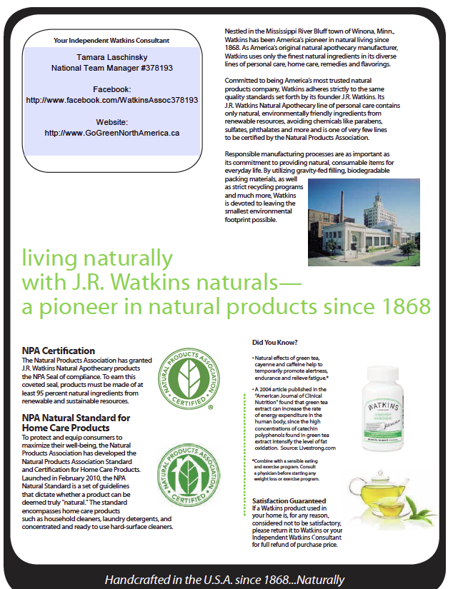 January sales and specials for JR Watkins