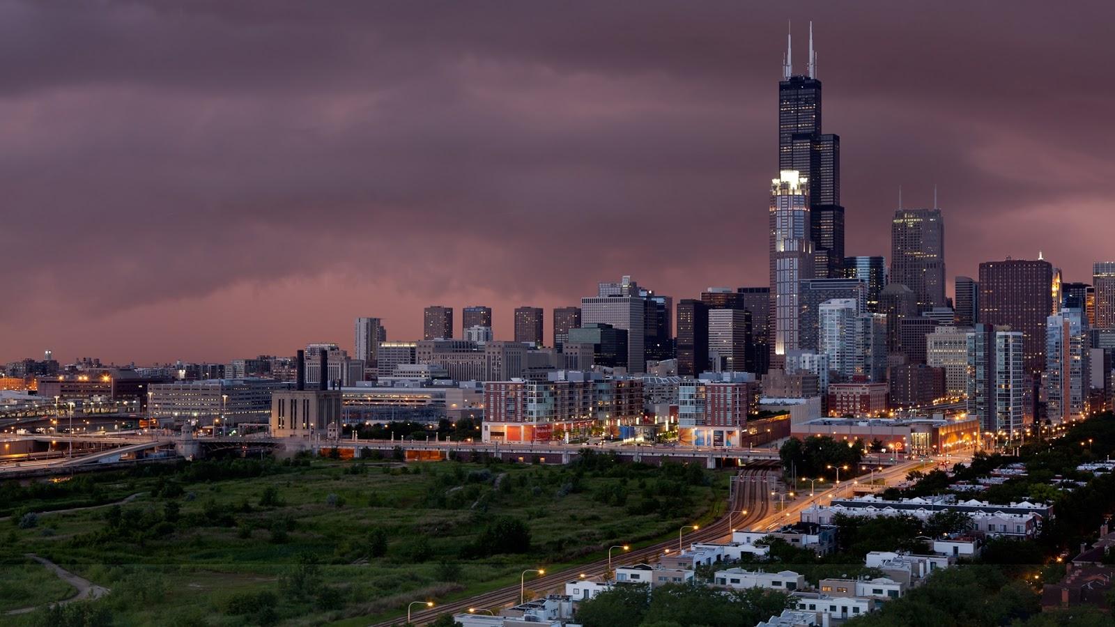 Chicago Lights at Night