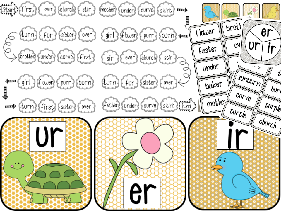 Printables Ir Words Phonics phonics words with er sounds free download the way i teach r controlled vowels ir ur
