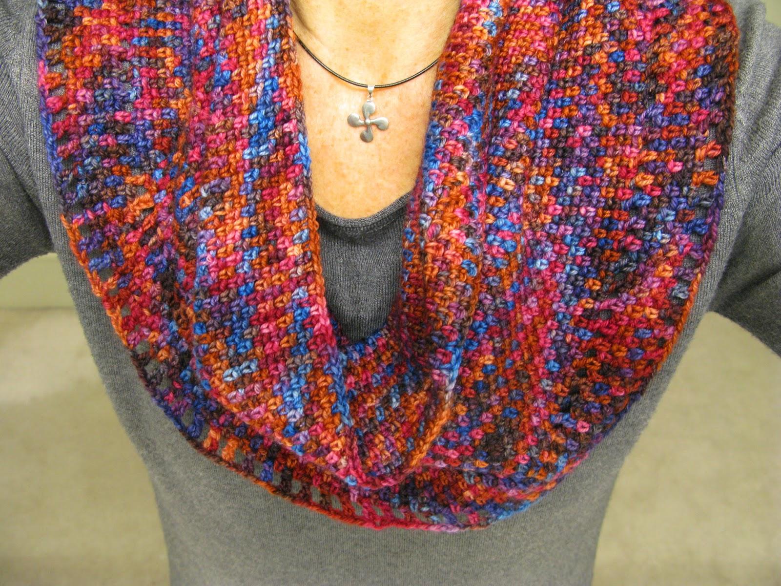 meo my crochet: Crochet Moss Stitch Infinity Scarf