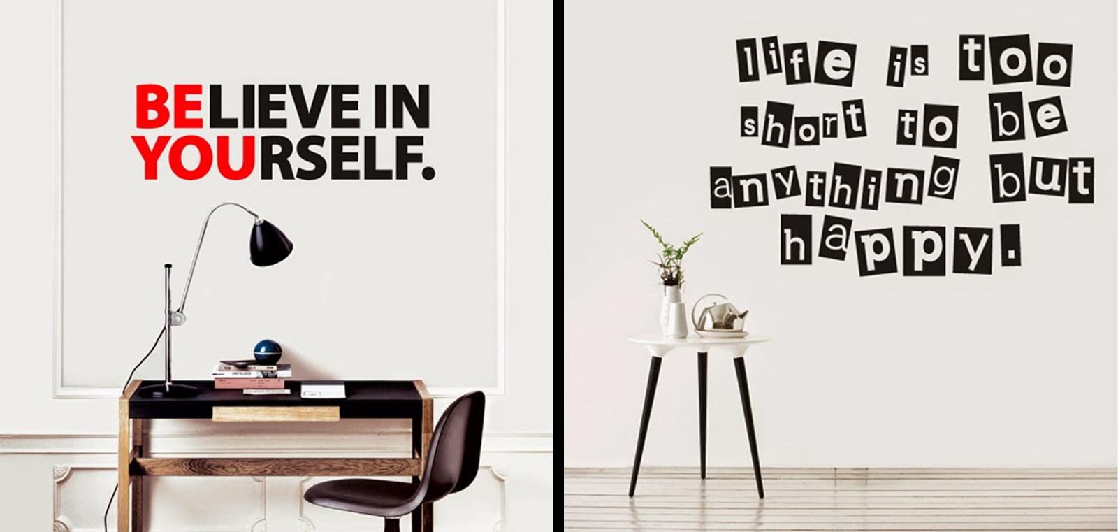 Decoraci n f cil vinilos con frases inspiracion en tus - Vinilos para pared de dormitorio ...