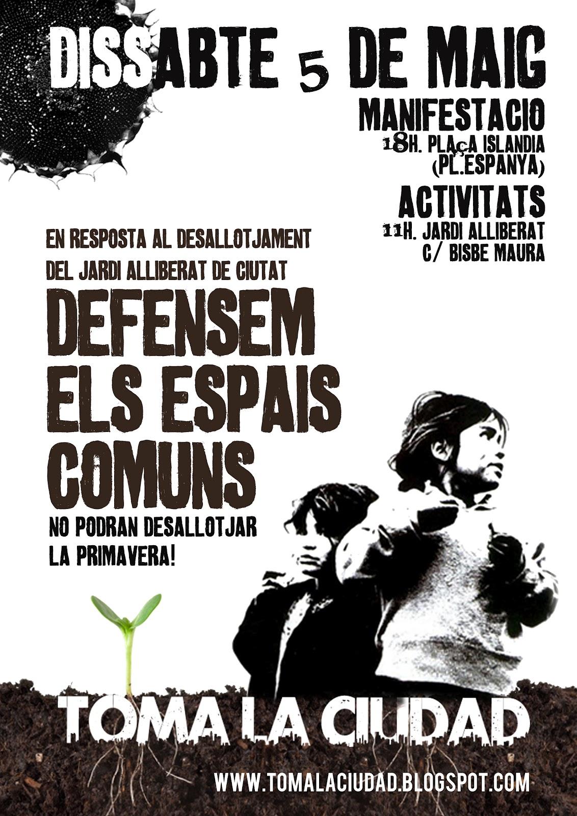 Manifestació en defensa dels espais comuns (05-05-12)
