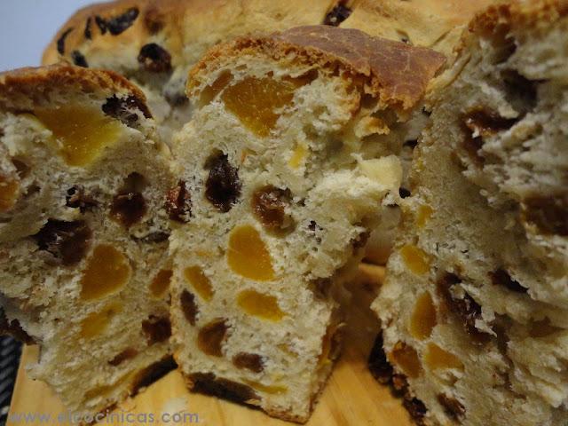 Pan de albaricoques y pasas