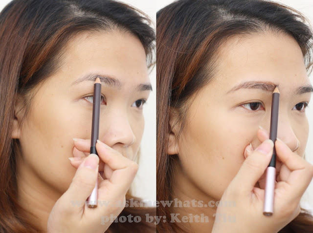 A photo of How to use Etude House Easy Brow Pencil #2