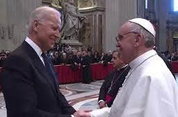 Pope Francis and Joe Biden