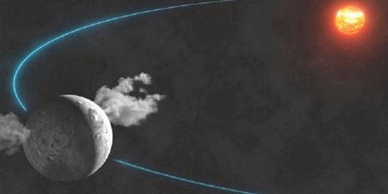 Planet Katai Ceres Menyemburkan Uap Air
