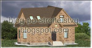 Проект коттеджа с мансардной крышей.