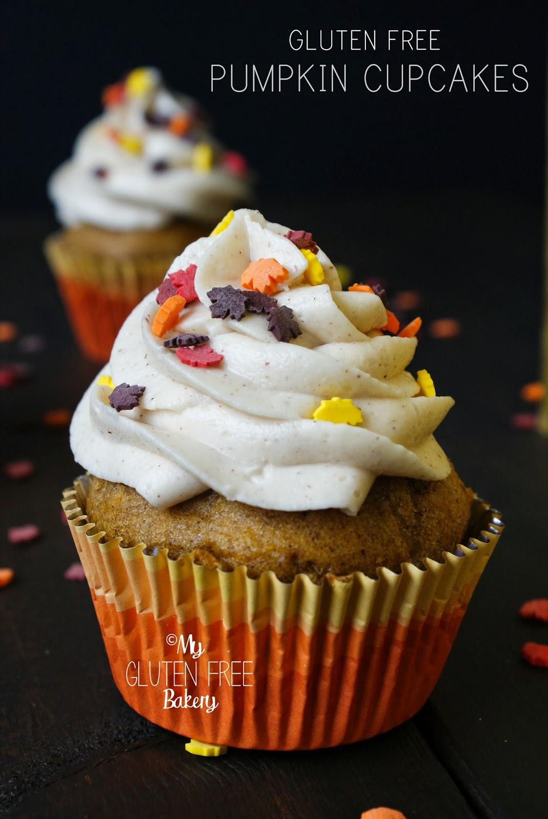 My Gluten Free Bakery: Gluten Free Pumpkin Cupcakes