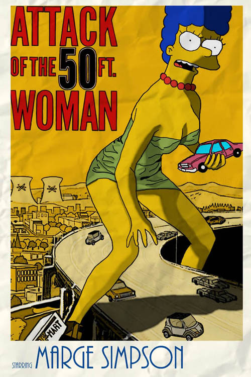 posters cinema simpsons - Atack of the 50ft. Woman