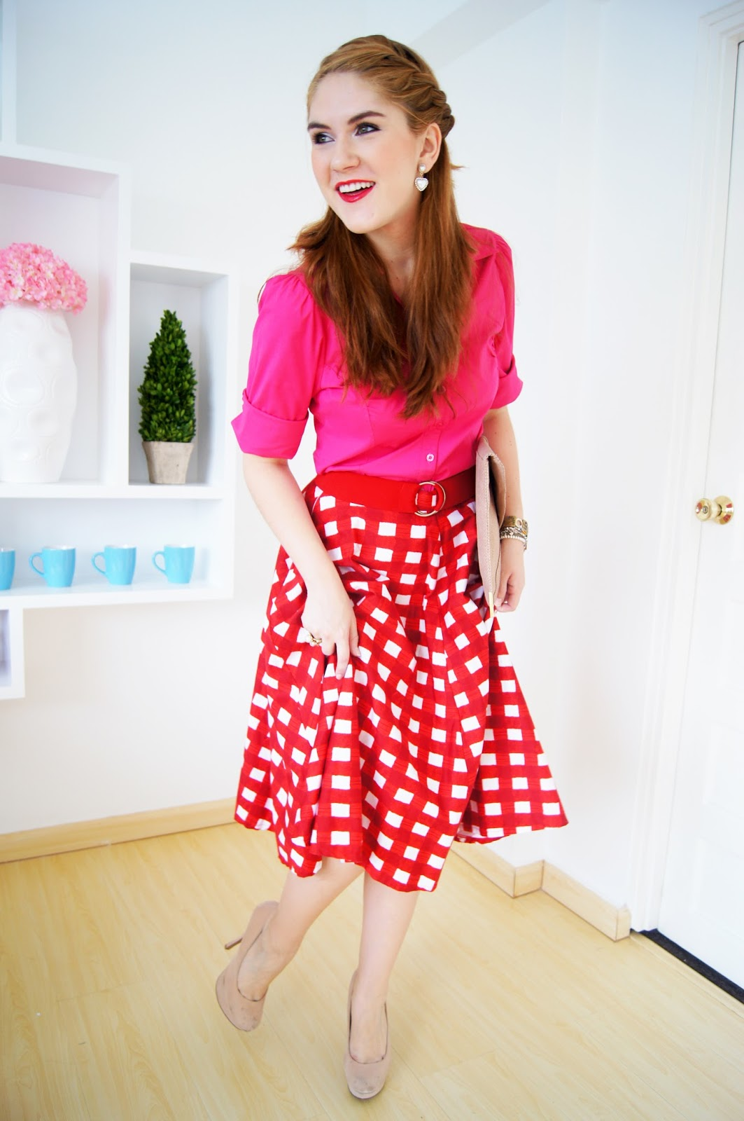 Checkered Skirt Outfit