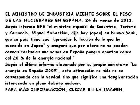 EL MINISTRO DE INDUSTRIA MIENTE.