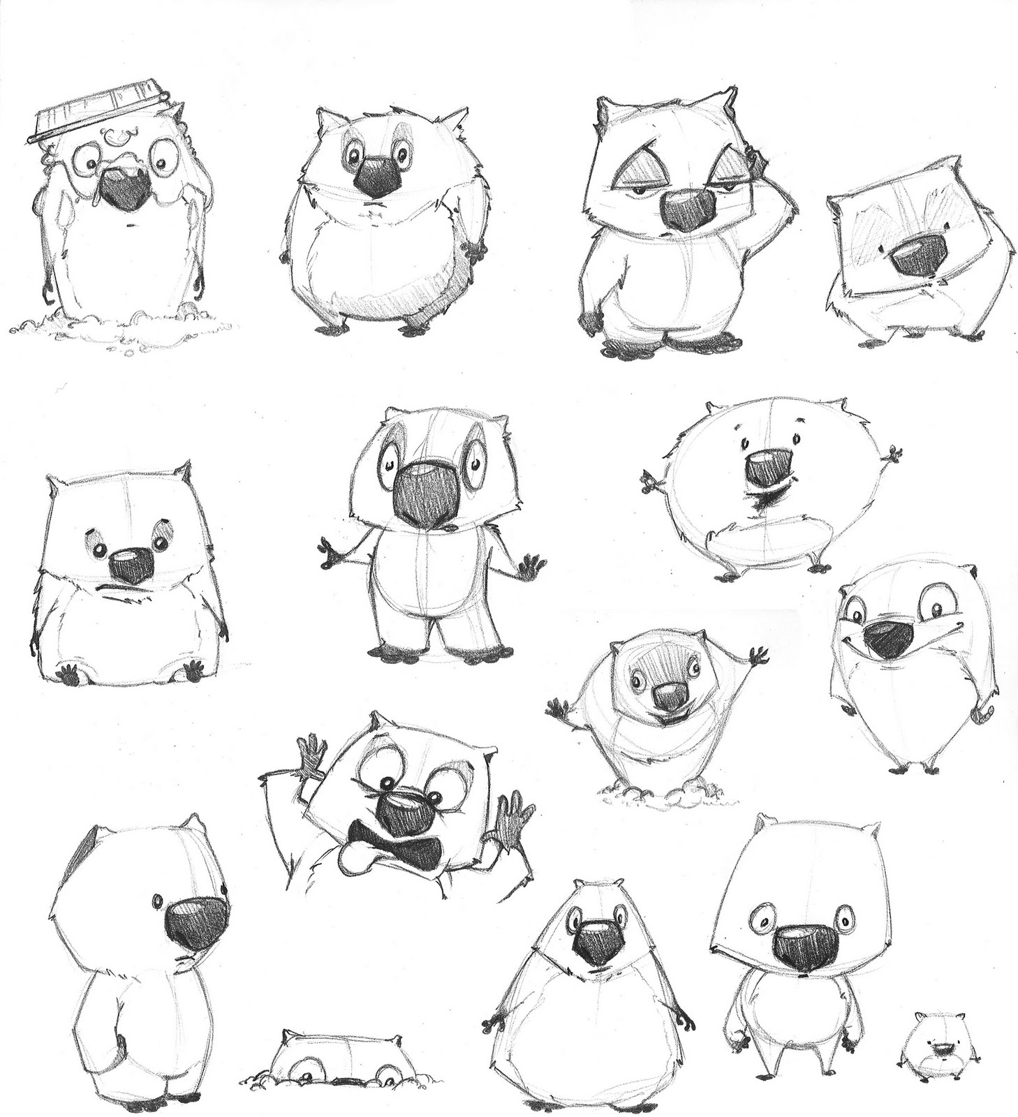 Coloring Pages Wombat Coloring Page wombat coloring page futpal com futpal