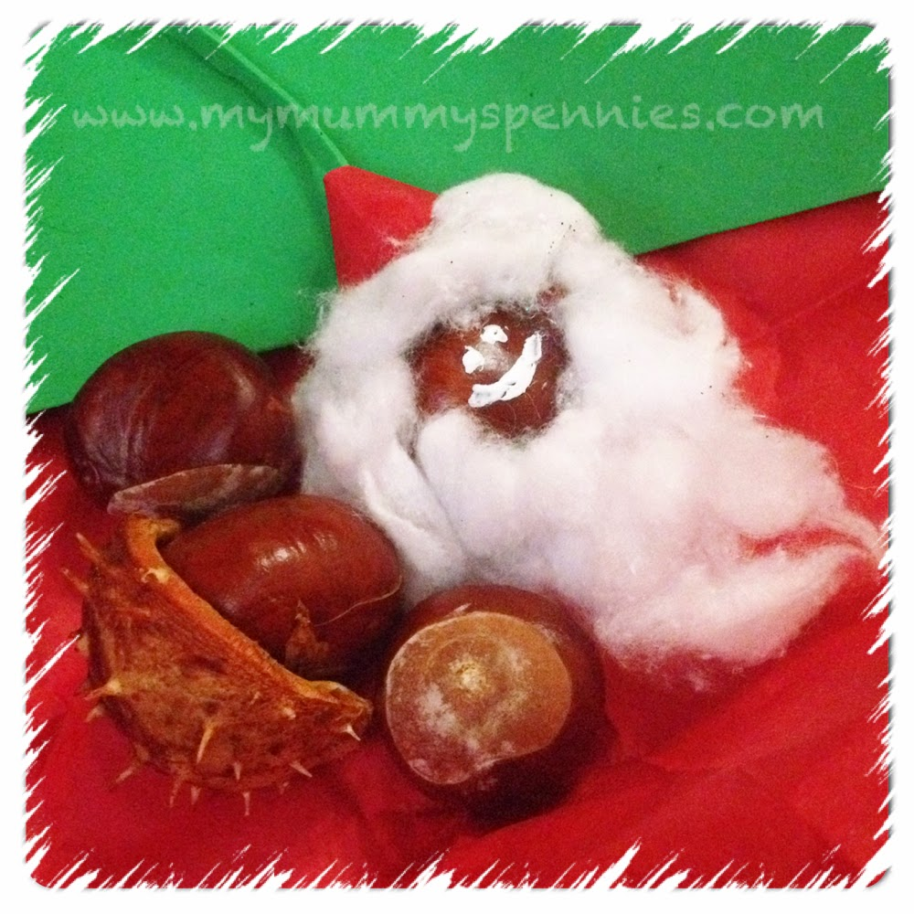 Santa's Head Christmas conker craft