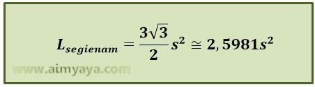 Gambar: Rumus Luas segienam (hexagon)