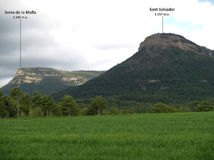 El Turó de Sant Salvador i la Serra de la Malla