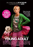 Cartel de Young adult, con Charlize Theron