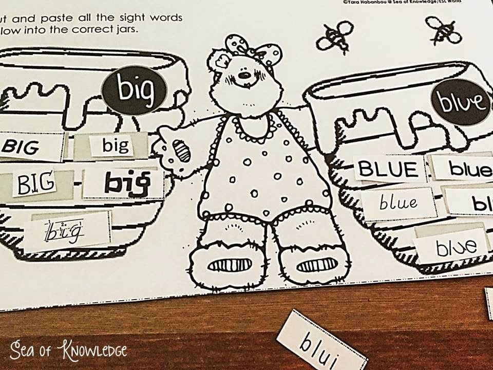 https://www.teacherspayteachers.com/Product/Sight-Word-Set-1-Interactive-Activities-Pre-primer-Words-Honey-Bears-1655150