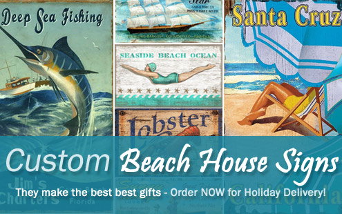 Create Custom Coastal Art at Caron's Beach House!