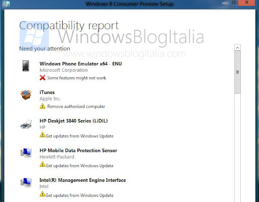 Windows+8+Consumer+Preview+ +Compatibility+Report Screenshots of the setup of Windows 8 Consumer Preview (Beta)