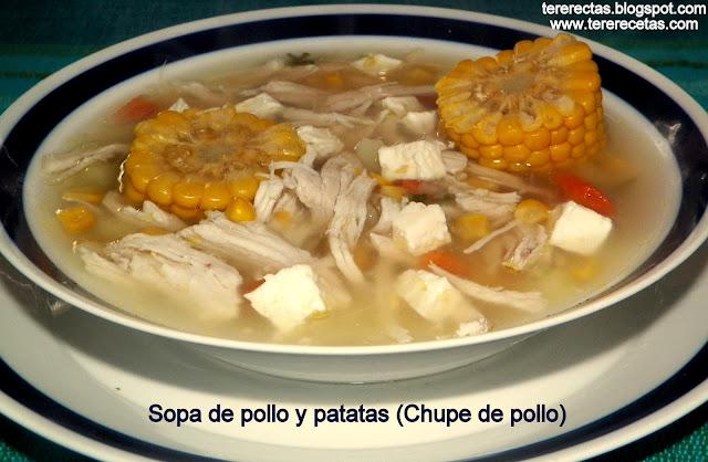 Sopa de pollo y patatas (Chupe de pollo)