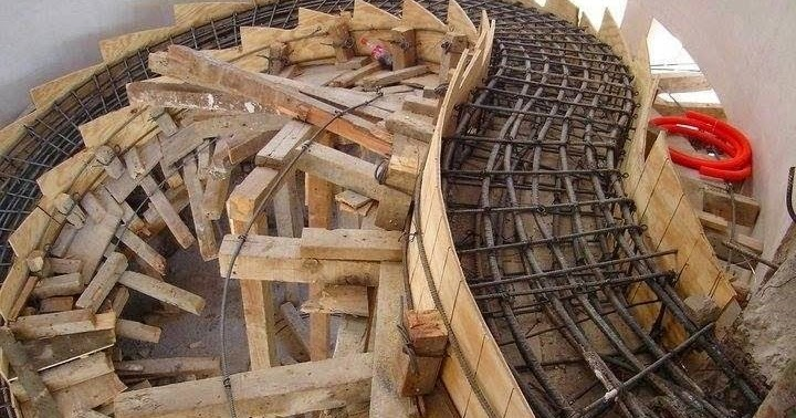 how to build concrete stairs formwork