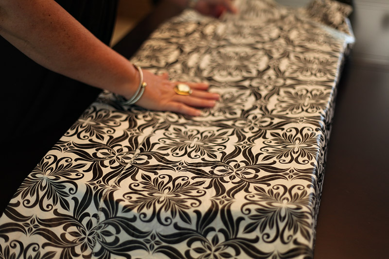 Once I Figured Out How Much Of The Table Cloth I Needed, I Adjusted And  Trimmed The Excess So That The Finished Edge Of The Table Cloth Was The  Seam That ...
