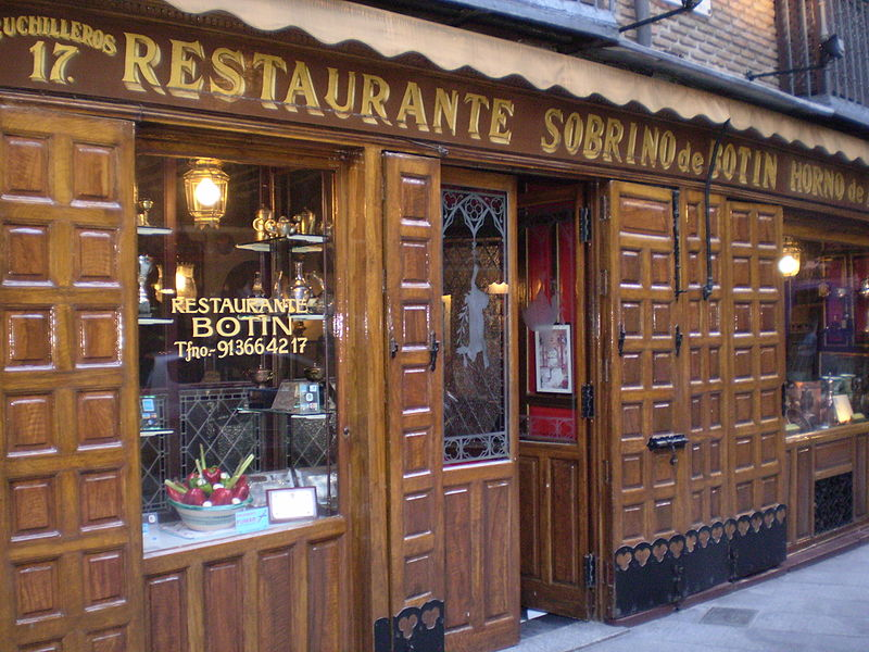 Travel with me casa bot n madrid world s oldest - Ristorante in casa ...