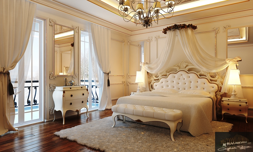 traditional bedroom white gloss furniture classic luxury design ideas