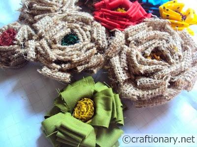 Весной-домашний декор-ткань, мешковина, джут