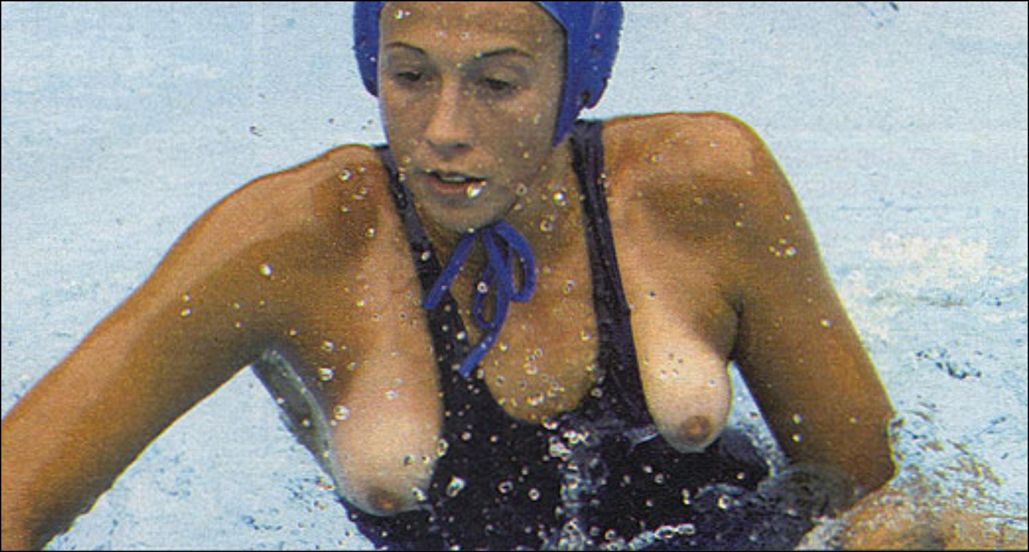 Nipple slip playing water polo hottest