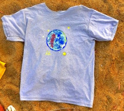 hand painted t-shirt, camiseta pintada a mano