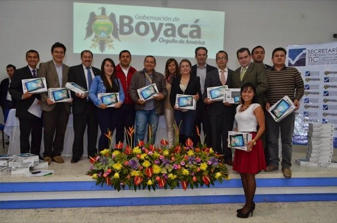 Personeros de Boyacá reciben tabletas digitales para facilitar su trabajo de defensoría pública