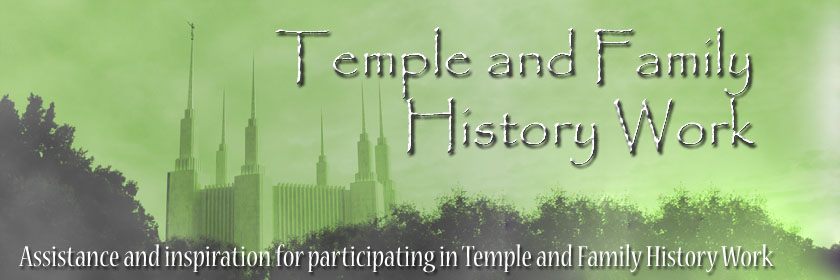 Temple and Family History Work