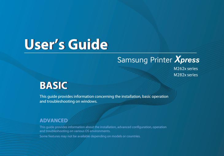 Samsung Printer Xpress M2825DW Manual Cover