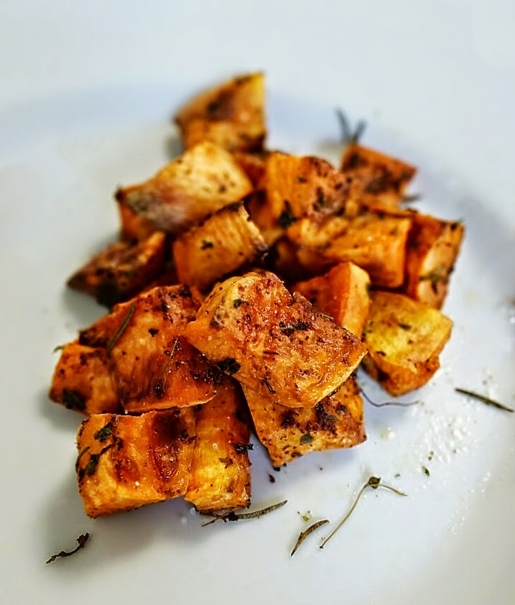... servings i hope you love these sweet herb roasted sweet potatoes