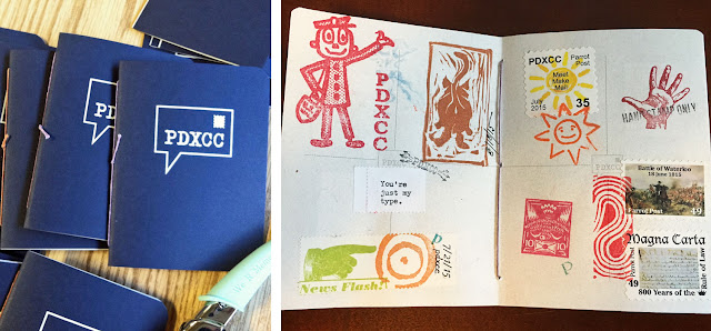 Mail Art Club Passport with faux postage by members - ponyboypress.com