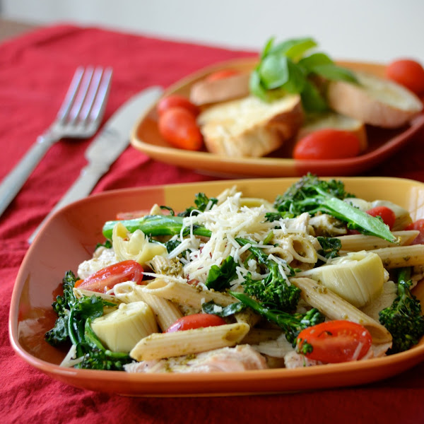 Lemon Pesto Penne