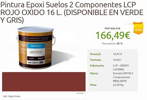 Protege y decora oferta pintura epoxi suelos 2 for Pintura epoxi suelos precio