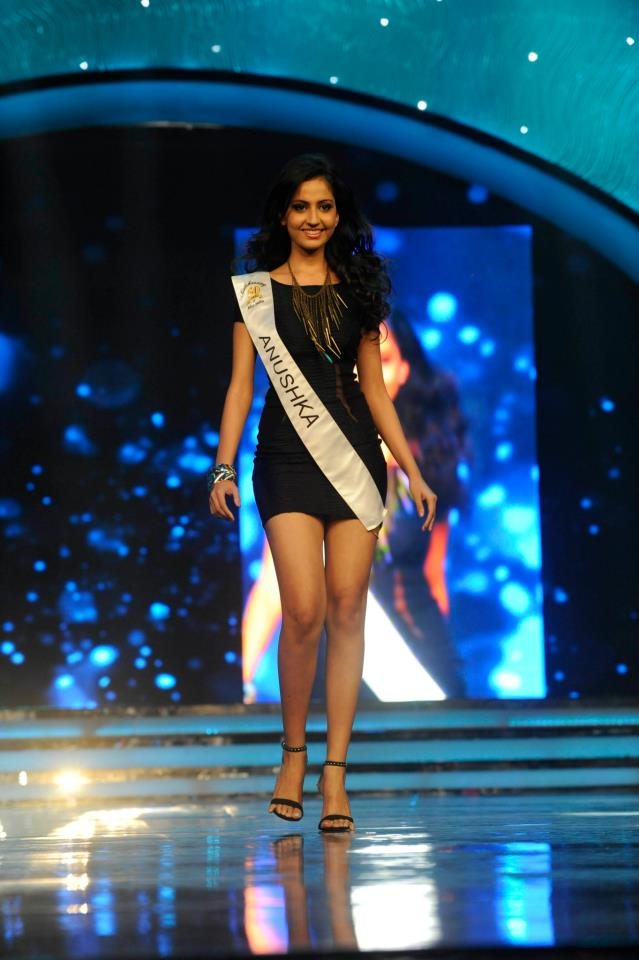 Anushka Shah winner of Reliance Digital Femina Miss Tech Diva 2013 Sub-Title during the Ponds Femina Miss India 2013 beauty pageant held at Yash Raj Studios in Mumbai on March 24, 2013.