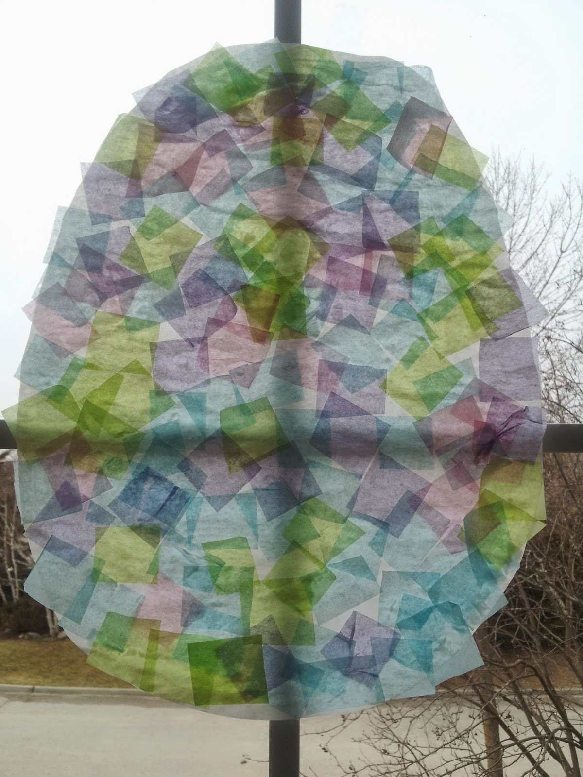 Tissue paper Easter egg craft, stained glass, crafts, kids crafts