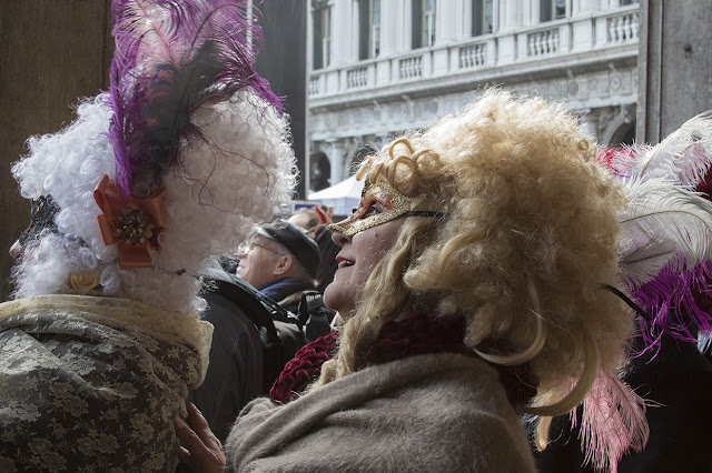 two ladies in costume, Venice