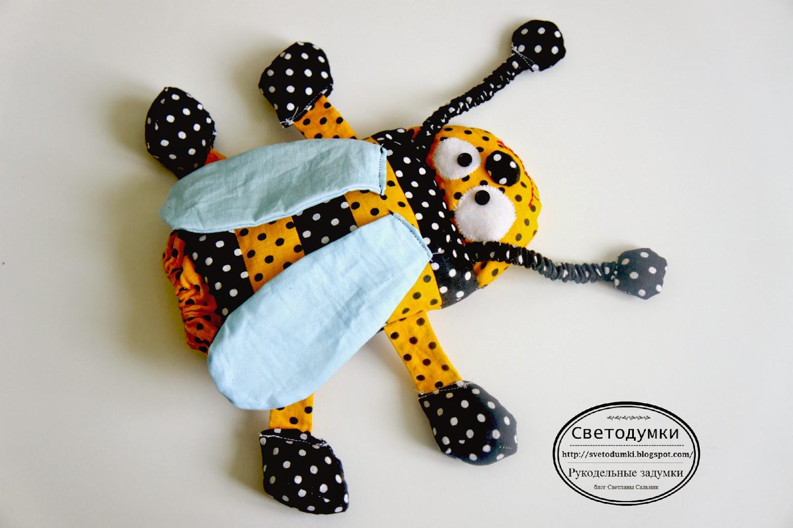 игрушка грелка пчела текстиль хлопок развивающая