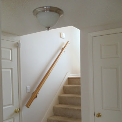 New Nickel and Alabaster Entry Way Light Fixture
