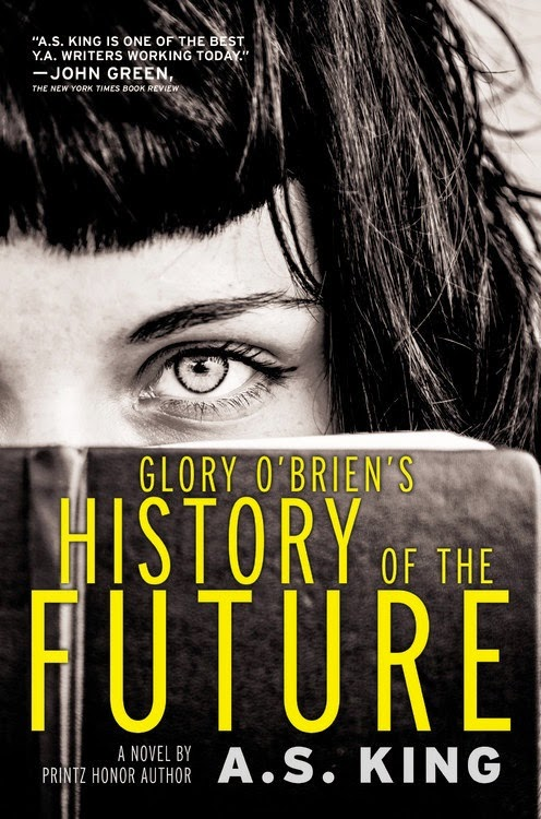 glory o'brien's history of the future by a.s. king book cover