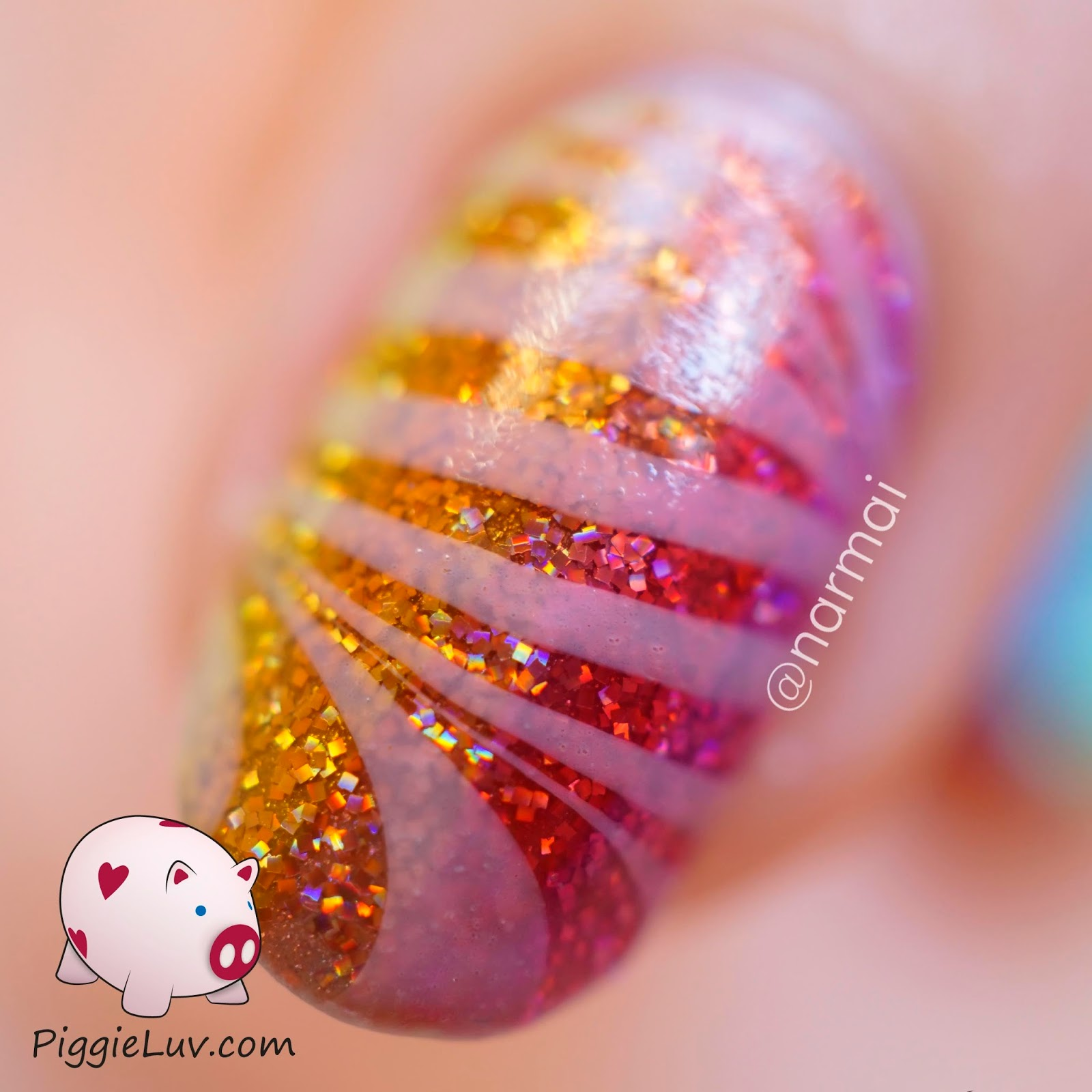 PiggieLuv: OPI Color Paints glitter gradient with glowy watermarble ...