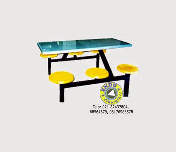 Kursi dan meja fiberglass untuk cafe dan food court