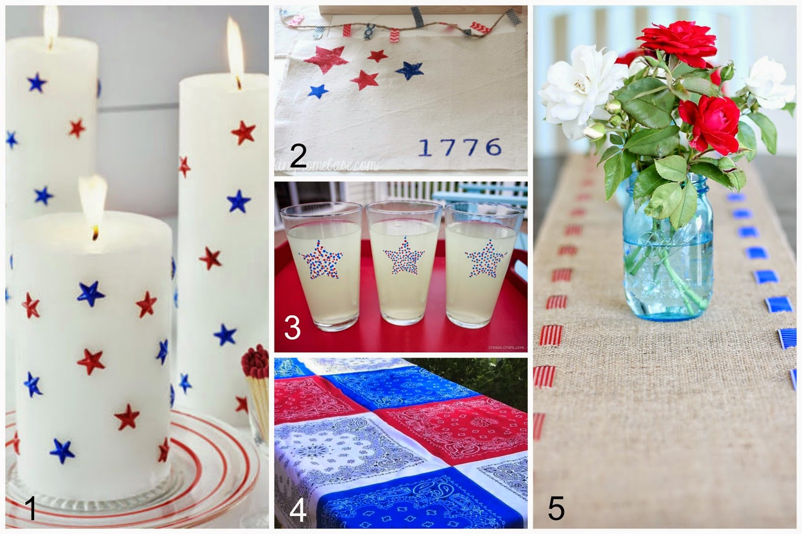 Home made modern perfectly patriotic craft projects for Patriotic decorations for home