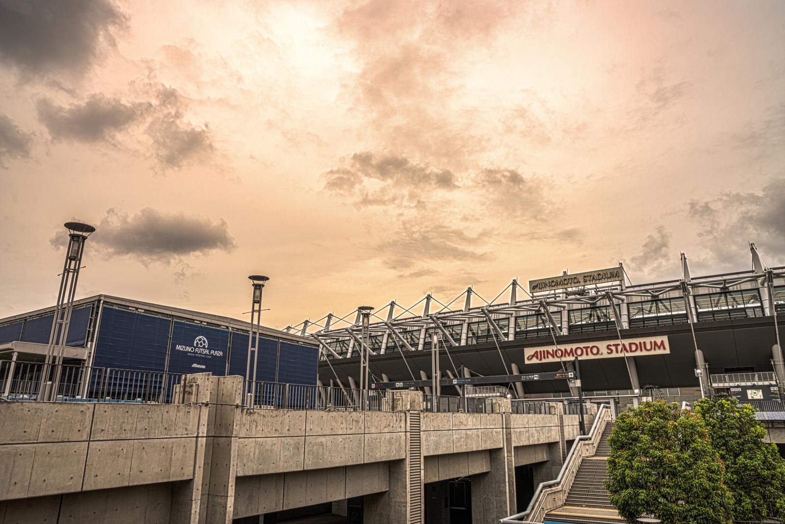 味の素スタジアムのHDR写真