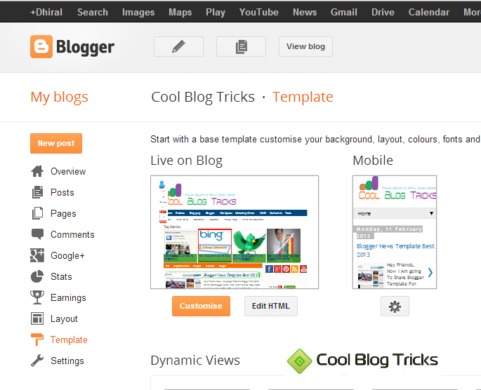 How To Customize Blogger Template